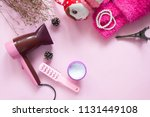 hair products and treatment... | Shutterstock . vector #1131449108