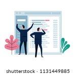 concept of team work represent... | Shutterstock .eps vector #1131449885