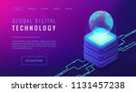 isometric global digital... | Shutterstock .eps vector #1131457238
