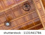 low perspective view of the... | Shutterstock . vector #1131461786