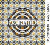 fascinating arabesque badge.... | Shutterstock .eps vector #1131462008