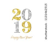 happy new year 2019 greeting... | Shutterstock .eps vector #1131462515