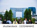 odaiba  japan   june 14  2018   ... | Shutterstock . vector #1131464642
