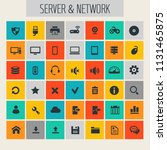 big computer networks icon set