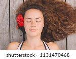 portrait of beautiful young... | Shutterstock . vector #1131470468