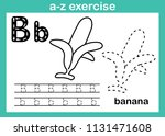 alphabet a z exercise with... | Shutterstock .eps vector #1131471608