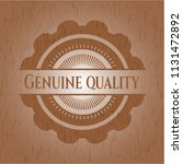 genuine quality badge with... | Shutterstock .eps vector #1131472892