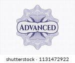 blue rosette. linear... | Shutterstock .eps vector #1131472922
