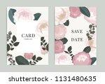 wedding invitation  floral... | Shutterstock .eps vector #1131480635