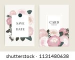 wedding invitation  floral... | Shutterstock .eps vector #1131480638