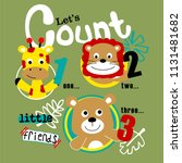 counting animals funny cartoon... | Shutterstock .eps vector #1131481682