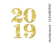 happy new year 2019 numbers of... | Shutterstock .eps vector #1131482942