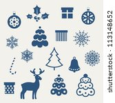 set of christmas icons. vector...