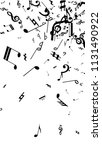 black musical notes on white... | Shutterstock .eps vector #1131490922