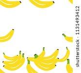 banana pattern download. summer ... | Shutterstock .eps vector #1131493412