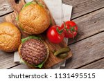 tasty grilled home made burgers ... | Shutterstock . vector #1131495515