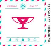 awards champions cup icon with... | Shutterstock .eps vector #1131497168
