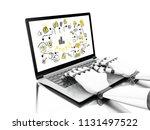 3d illustration. robotic hands... | Shutterstock . vector #1131497522