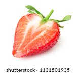 half of red ripe strawberry... | Shutterstock . vector #1131501935