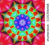 psychedelic background.... | Shutterstock . vector #1131506468