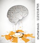 abstract digital brain... | Shutterstock .eps vector #1131518705