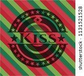 Kiss Christmas Badge.