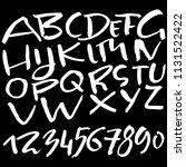 hand drawn dry brush lettering. ... | Shutterstock .eps vector #1131522422