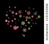 cute floral pattern with simple ...   Shutterstock .eps vector #1131523436
