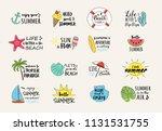 summertime   funny typography... | Shutterstock .eps vector #1131531755