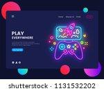 gamer website concept banner... | Shutterstock .eps vector #1131532202