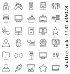 thin line vector icon set  ... | Shutterstock .eps vector #1131536078