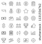 thin line vector icon set  ... | Shutterstock .eps vector #1131536762