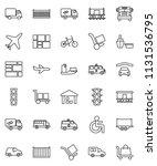 thin line vector icon set  ... | Shutterstock .eps vector #1131536795