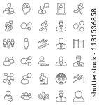 thin line vector icon set  ... | Shutterstock .eps vector #1131536858