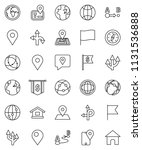 thin line vector icon set  ... | Shutterstock .eps vector #1131536888