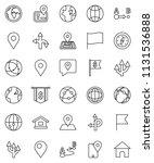 thin line vector icon set  ... | Shutterstock .eps vector #1131536888