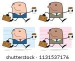 businessman cartoon character... | Shutterstock . vector #1131537176