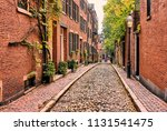 historic acorn street at ...   Shutterstock . vector #1131541475