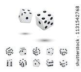 dice game element set. vector... | Shutterstock .eps vector #1131542768