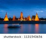 wat chaiwatthanaram of... | Shutterstock . vector #1131543656