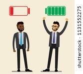 happy strong caucasian... | Shutterstock .eps vector #1131552275