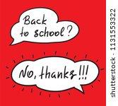 back to school   handwritten...   Shutterstock .eps vector #1131553322