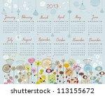 2013 Calendar With Decorative...