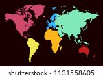 world map vector | Shutterstock .eps vector #1131558605