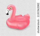 pink inflatable flamingo swim... | Shutterstock .eps vector #1131562082