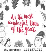 vector christmas  new year... | Shutterstock .eps vector #1131571712