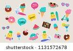 sweet summer   cute ice cream ... | Shutterstock .eps vector #1131572678