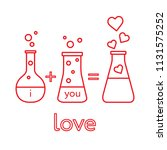 you and me and our chemistry of ... | Shutterstock .eps vector #1131575252