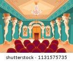 vector dancing hall with atlas... | Shutterstock .eps vector #1131575735