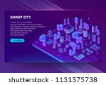 vector site with 3d isometric... | Shutterstock .eps vector #1131575738